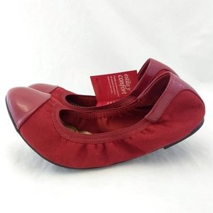 New Dexflex Comfort 10 Flats Loafers Red Patent